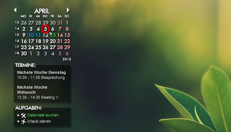 Электронный календарь на рабочий стол скачать бесплатно